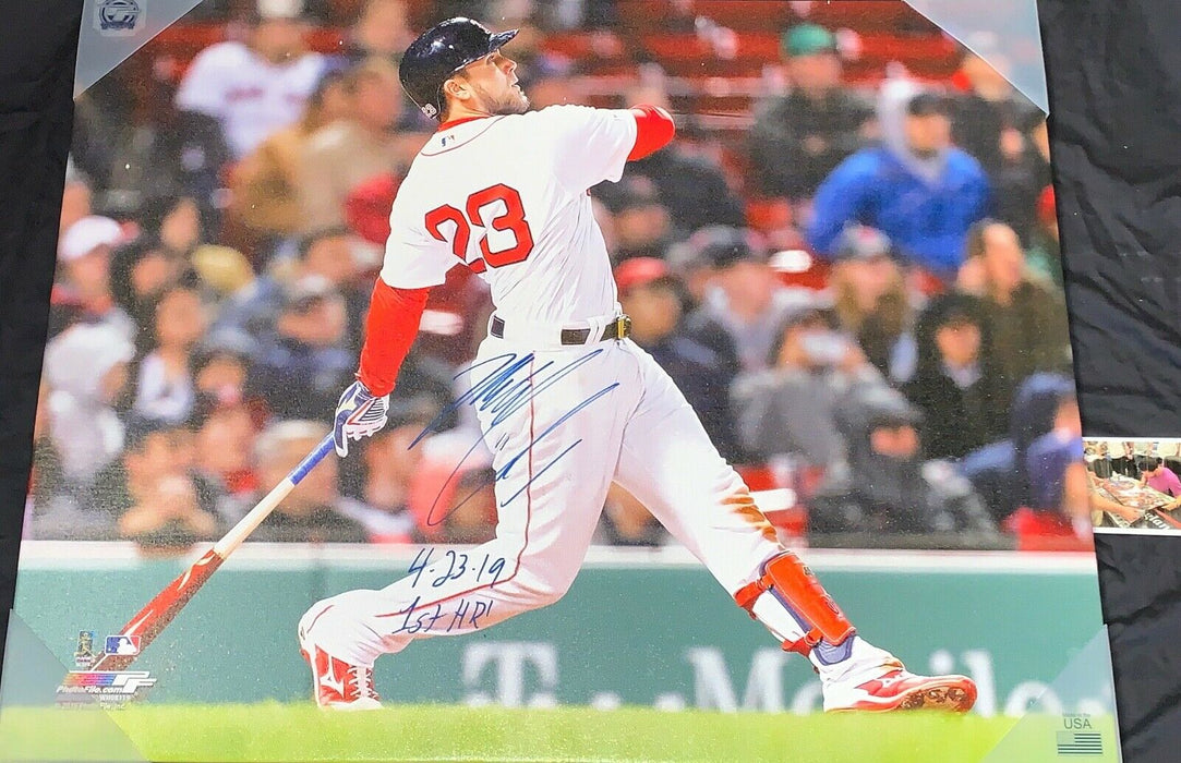 Michael Chavis Boston Red Sox 4-23-19 1st HR Signed 24x30 Canvas