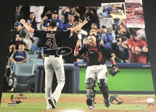 Chris Sale Red Sox 2018 World Series Signed 16x20 Photo JSA WITNESS COA C