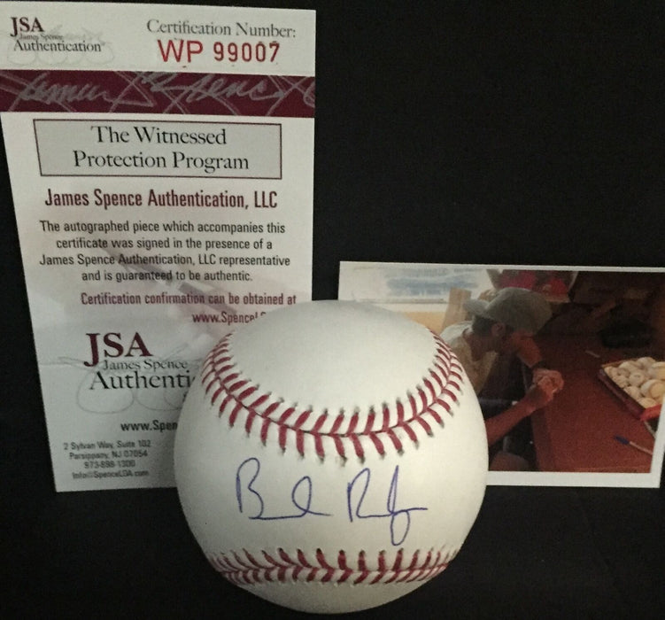 Brendan Rodgers Colorado Rockies Autographed Signed Baseball JSA WITNESS COA A