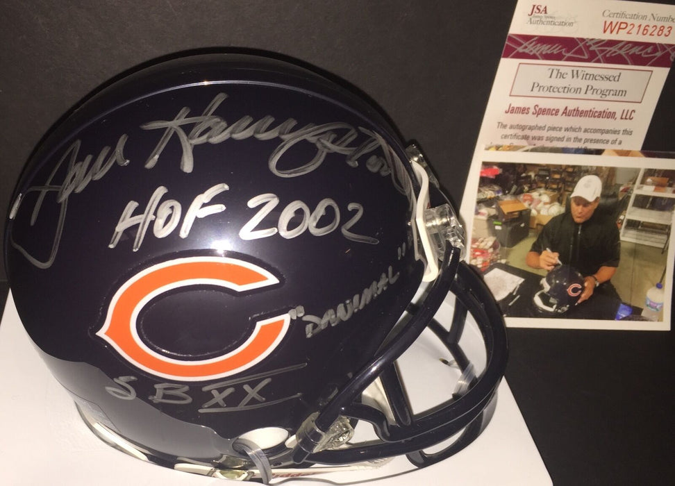 Dan Hampton Chicago Bears Signed Mini Helmet 3 Ins Danimal, HOF 2002, SBXX JSA