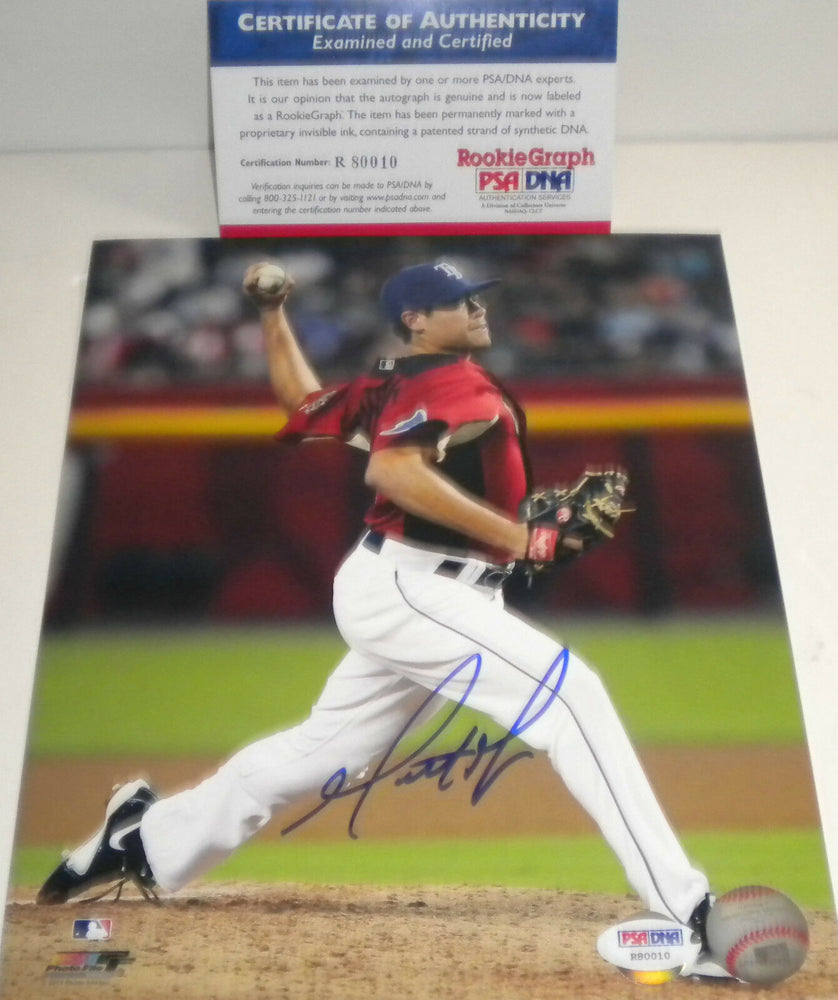 Matt Moore Giants Rangers Rays PSA DNA ROOKIE COA Signed Autographed 8x10 a