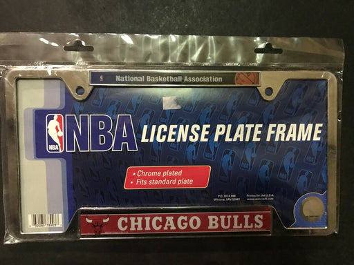 Chicago Bulls Metal License Plate Frame Chrome Finish FREE SHIPPING