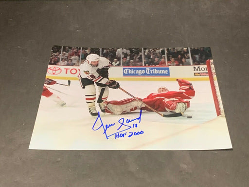 Denis Savard Chicago Blackhawks Autographed Signed 8x10 HOF 2000 2