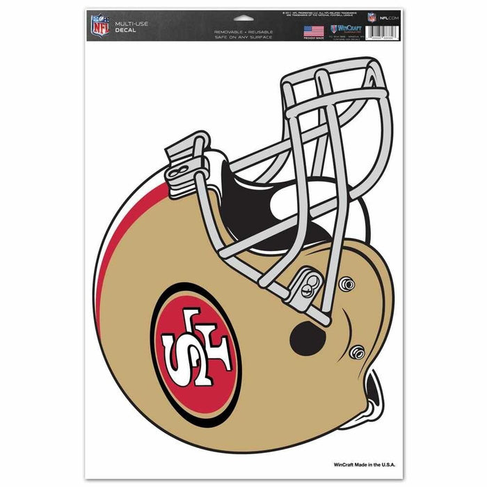 "San Francisco 49ers MULTI USE DECAL 11"" X 17"""