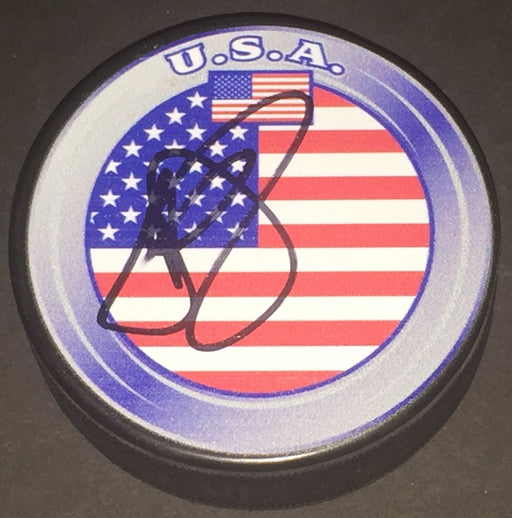 Justin Abdelkader Detroit Red Wings Autographed Signed USA Hockey Puck