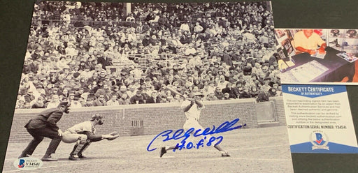 Billy Williams Chicago Cubs Autographed Signed 8x10 Picture HOF 87 Beckett COA w