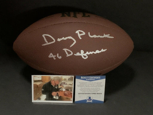 Doug Plank Chicago Bears Signed Football 46 Defense BECKETT WITNESS COA