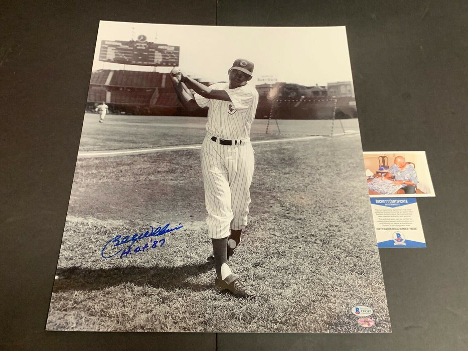 Billy Williams Chicago Cubs Autographed Signed 16x20 Beckett COA d