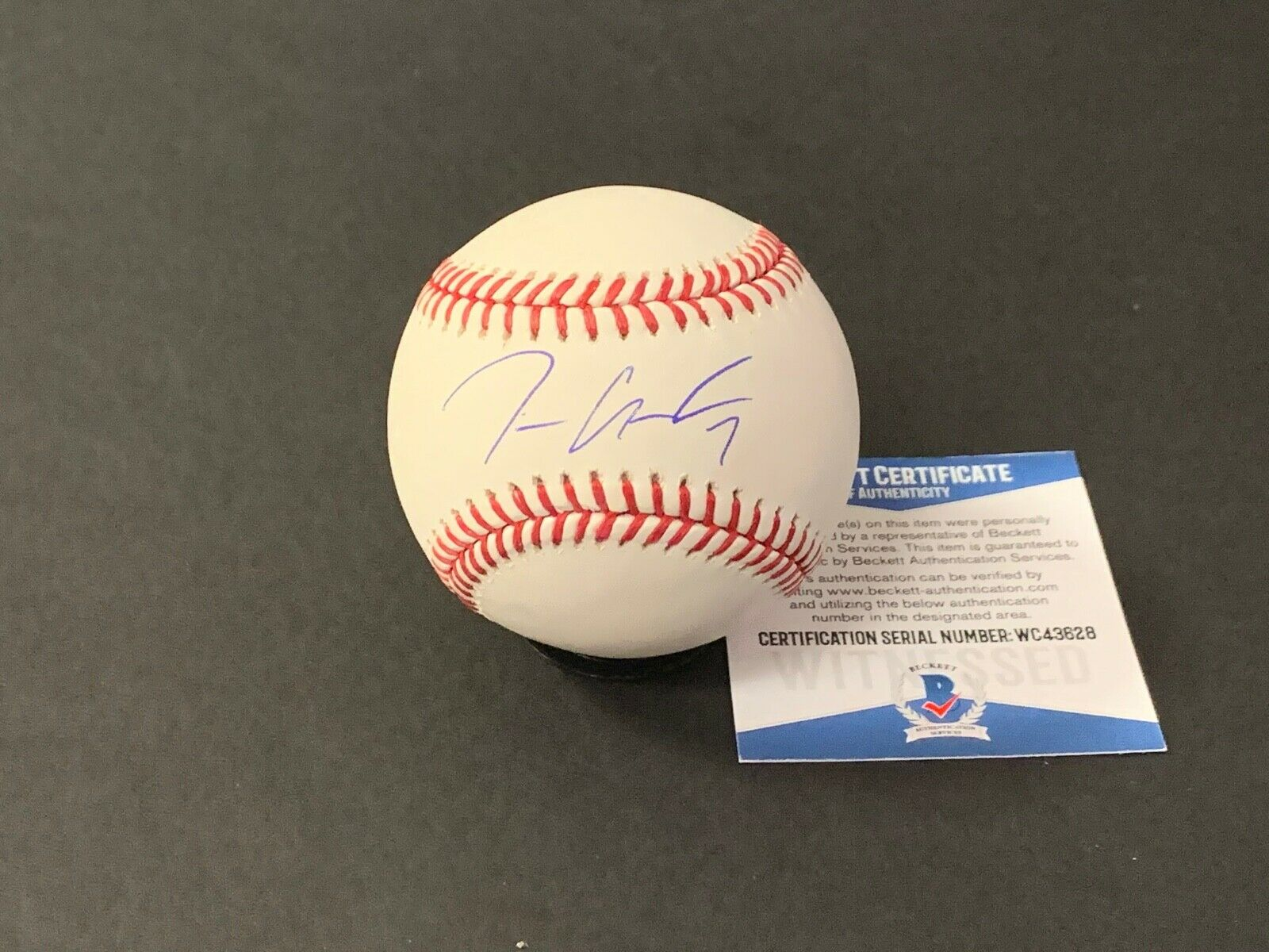 Tim Anderson Chicago White Sox Autographed Signed Baseball Beckett WITNESS COA 7