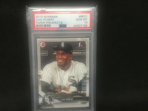 Luis Robert Chicago White Sox 2018 Bowman Paper Rookie PSA 10 Gem Mint BP21
