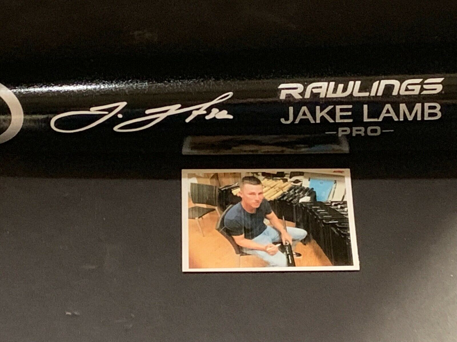 Jake Lamb Arizona Diamondbacks Autographed Signed Engraved Bat Black 1