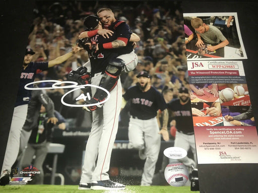 Chris Sale Red Sox Autographed Signed 8x10 JSA WITNESS COA World Series Champs V