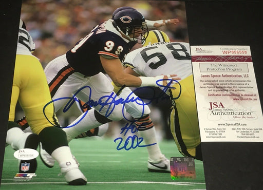 Dan Hampton Chicago Bears Autographed Signed 8x10 Photo JSA WITNESS COA 1