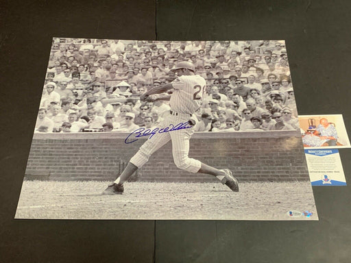 Billy Williams Chicago Cubs Autographed Signed 16x20 Beckett COA b