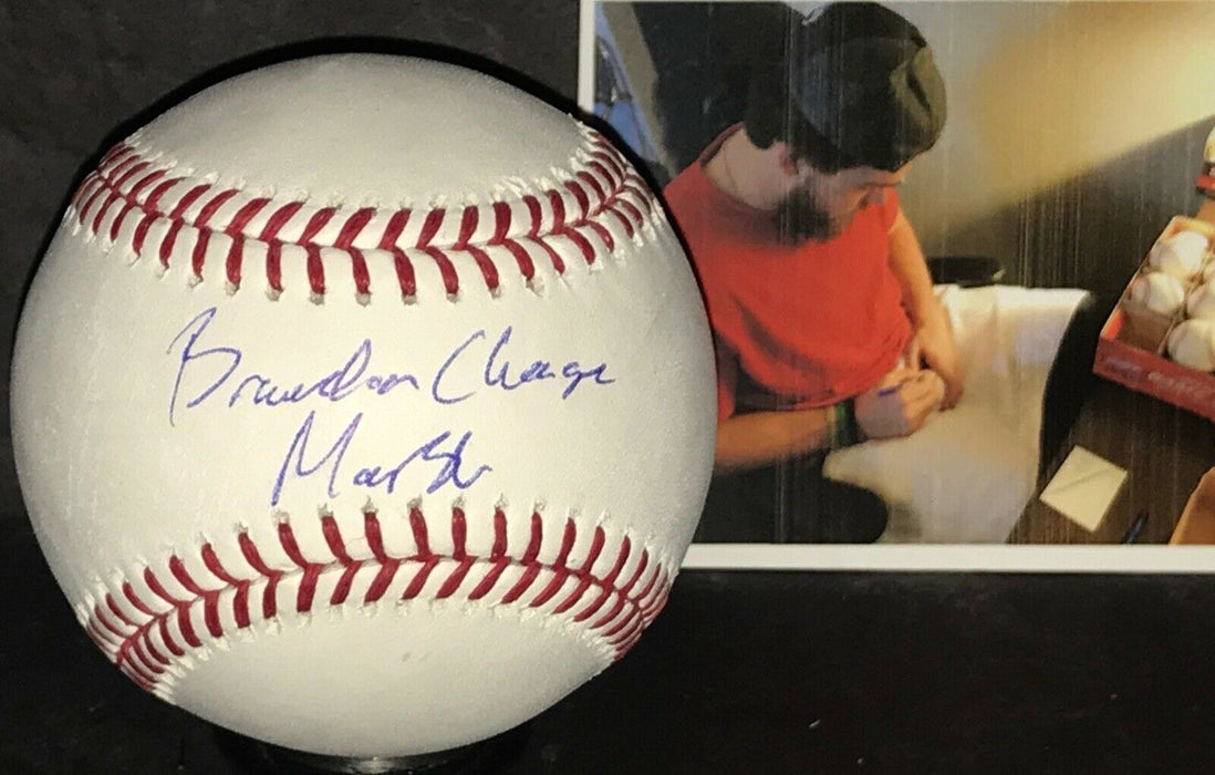 Brandon Marsh Los Angeles Angels Autographed Signed MLB Baseball Full NAME
