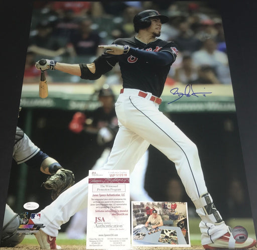 Bradley Zimmer Indians Autographed Signed 16x20 Photo JSA WITNESS COA