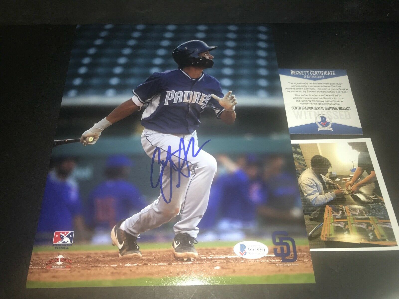 CJ Abrams San Diego Padres Autographed Signed 8x10 Photo Beckett WITNESS COA 2