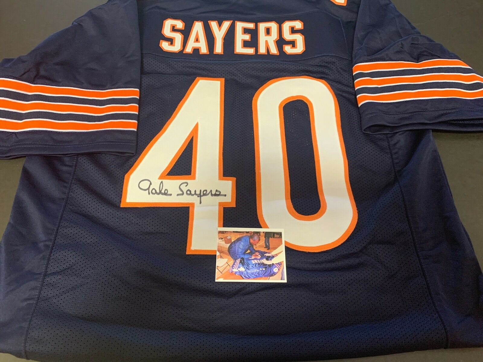 Gale Sayers Chicago Autographed Signed Jersey .
