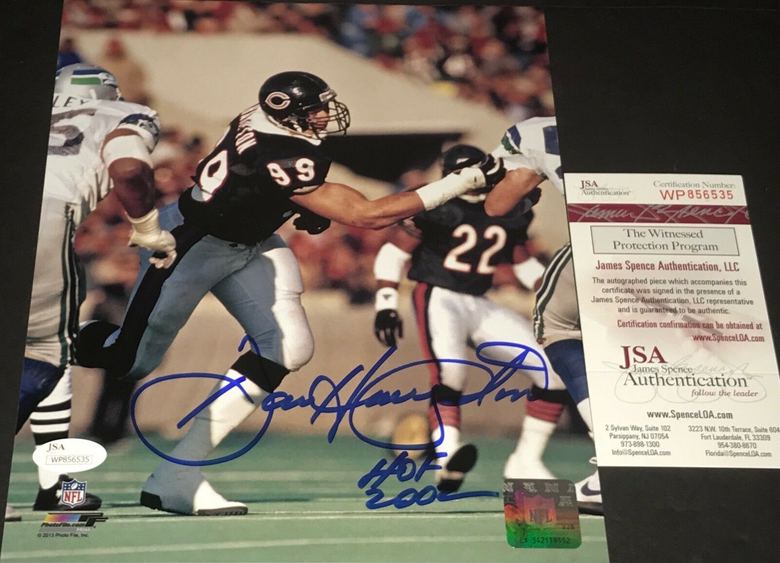 Dan Hampton Chicago Bears Autographed Signed 8x10 Photo JSA WITNESS COA