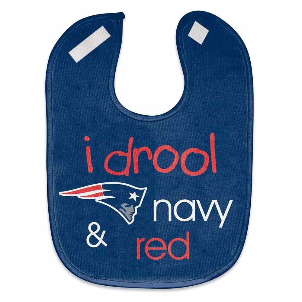 New England Infant Mesh Bib I Drool Navy & Red