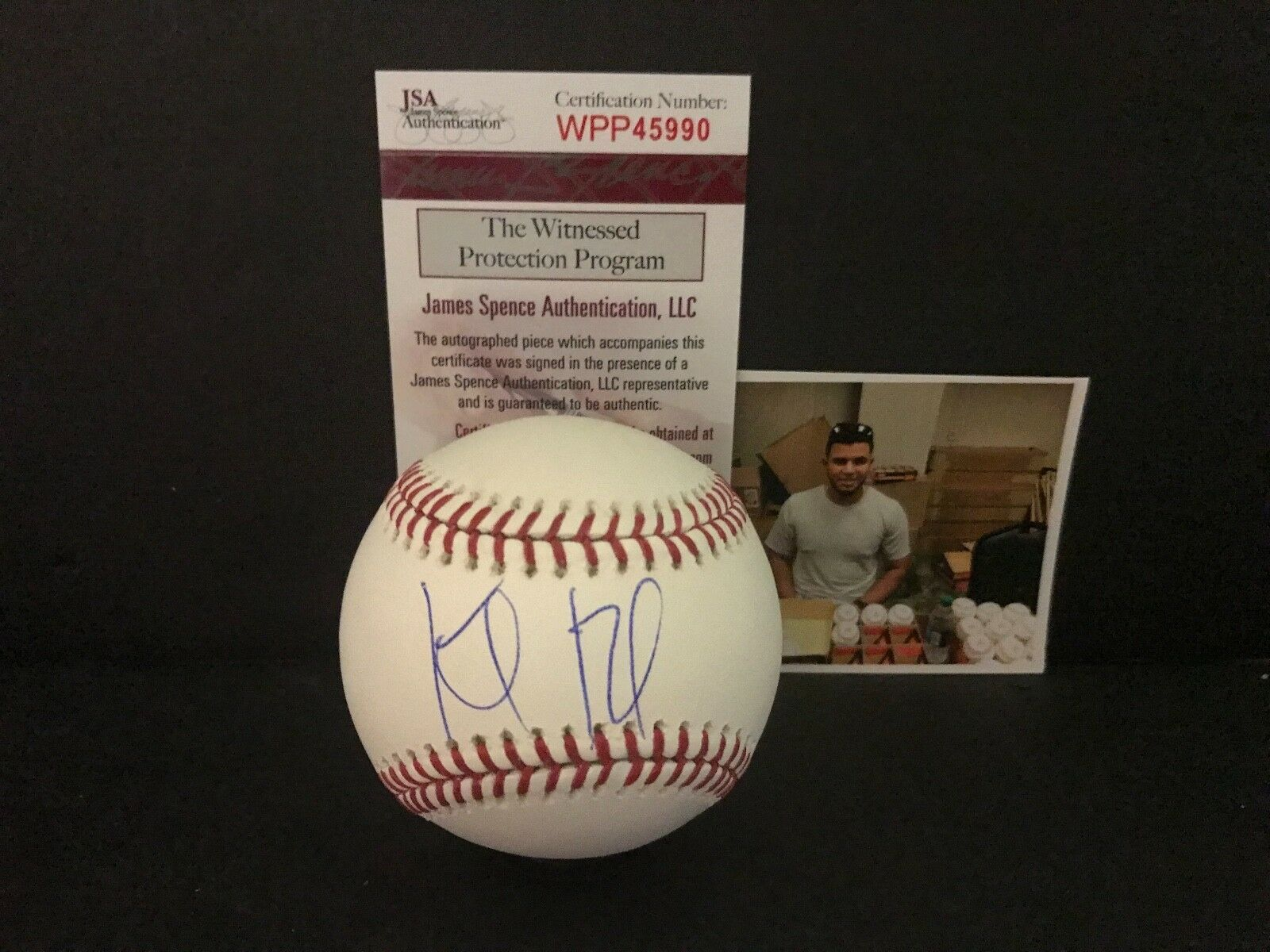 Keibert Ruiz Los Angeles Dodgers Signed Baseball Proof JSA WITNESS COA