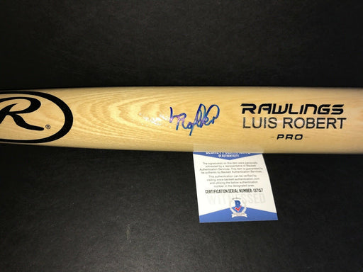 Luis Robert Chicago White Sox Autographed Signed Bat BECKETT COA Blonde FULL SIGNATURE