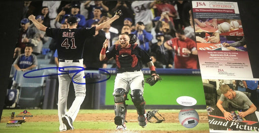 Chris Sale Red Sox Autographed Signed 8x10 JSA WITNESS COA World Series Champs 3