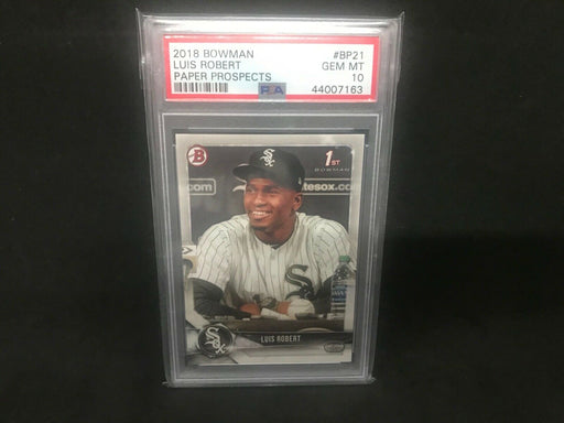 Luis Robert Chicago White Sox 2018 Bowman Paper Rookie PSA 10 Gem Mint BP21 .