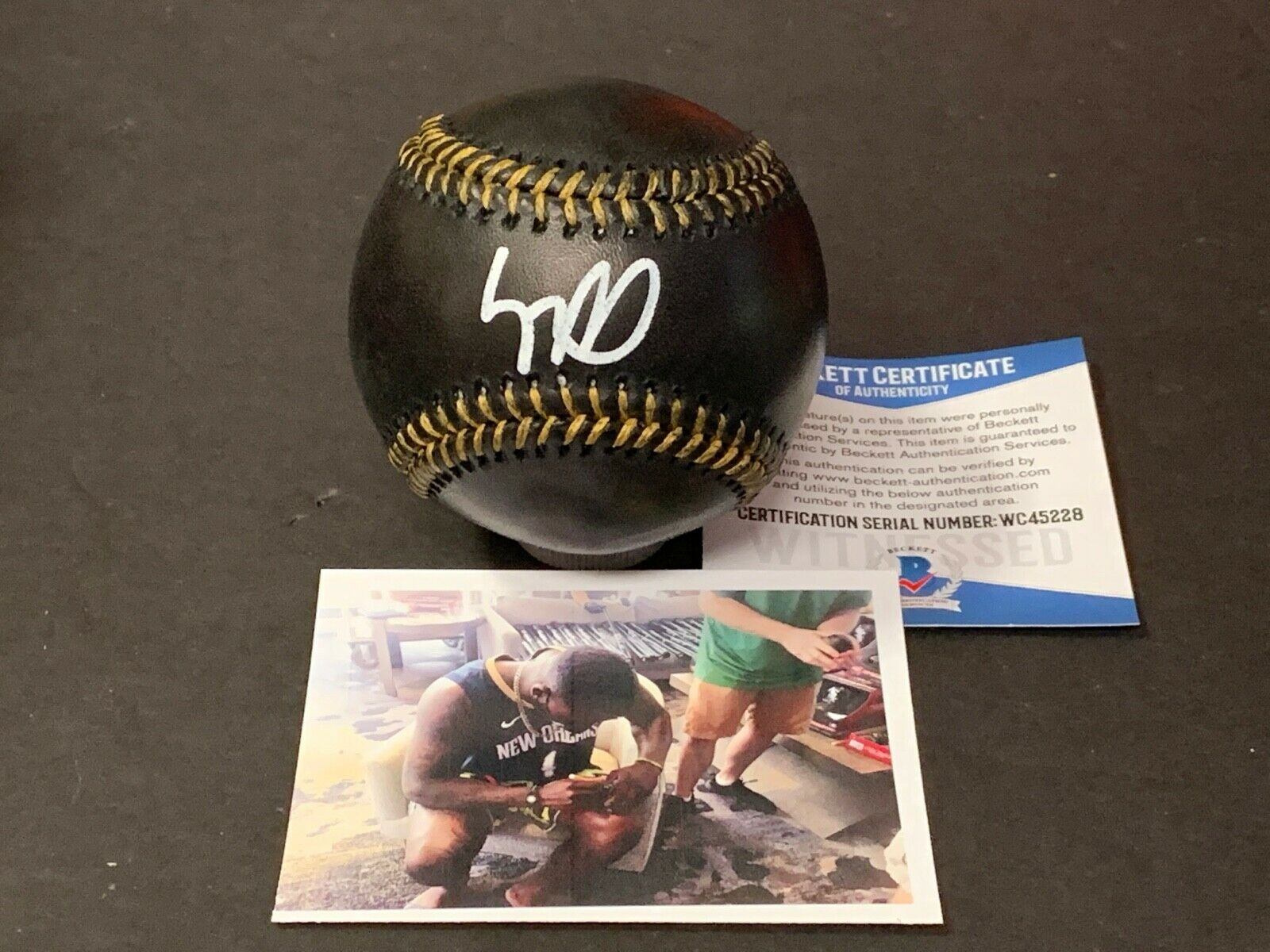Luis Robert White Sox Signed Major League BLACK Baseball Beckett WITNESS