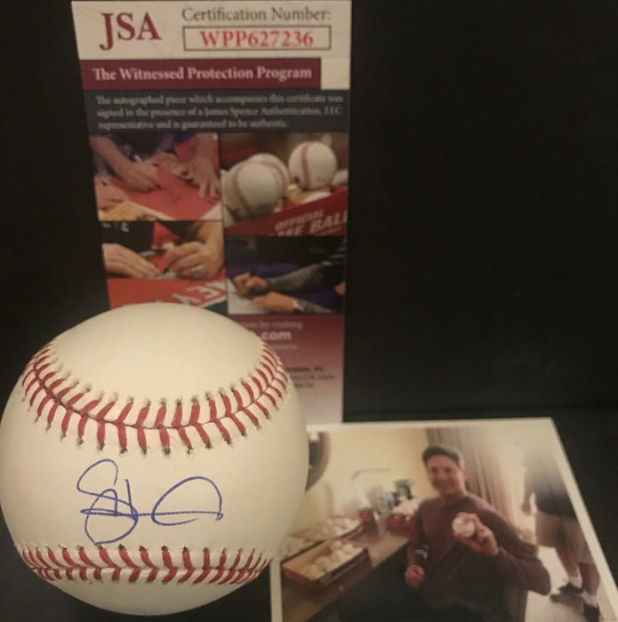 Spencer Howard Philadelphia Phillies Signed Baseball Proof JSA WITNESS COA 1