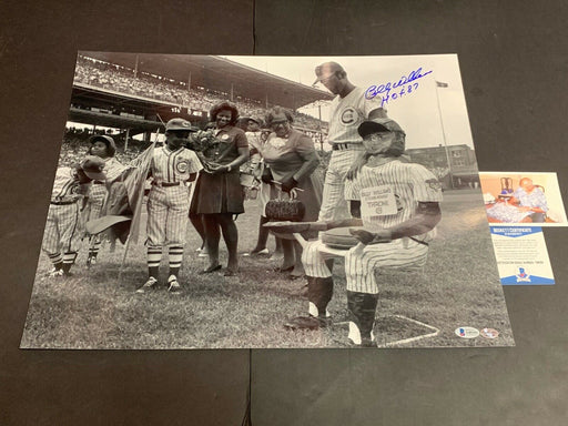 Billy Williams Chicago Cubs Autographed Signed 16x20 Beckett COA .