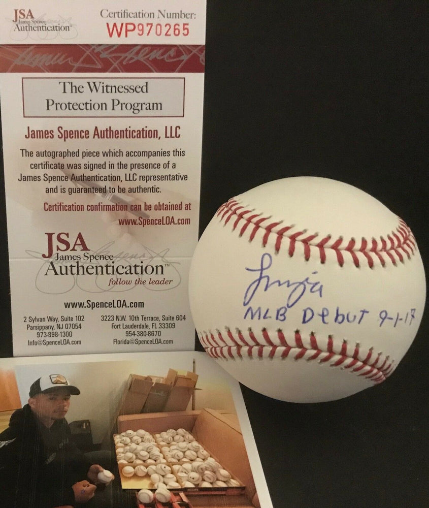 Francisco Mejia Indians Autographed Signed Baseball JSA WITNESS COA MLB DEBUT A