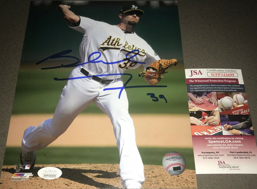 Blake Treinen Oakland A's Autographed Signed 8x10 Photo JSA WITNESS COA White 1