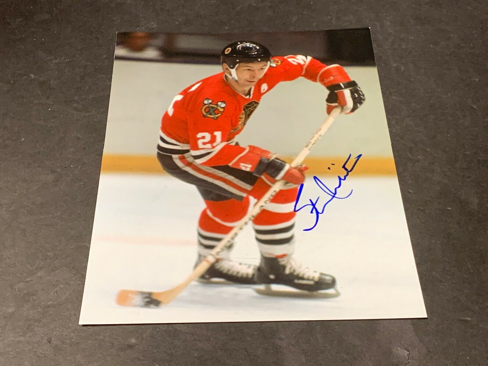 Stan Mikita Chicago Blackhawks Autographed Signed 8x10 d