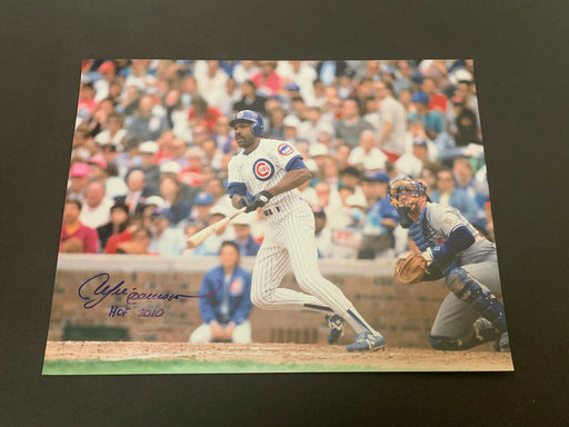 Andre Dawson Chicago Cubs Autographed Signed 11x14 HOF 2010 .