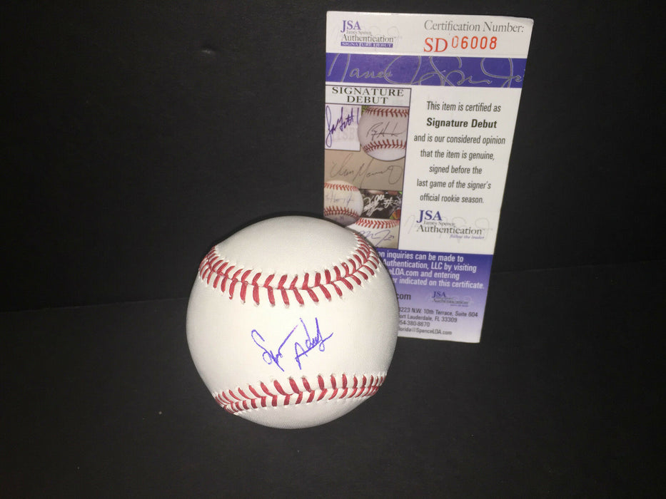 Spencer Adams Chicago White Sox JSA DEBUT COA Signed Autographed Baseball