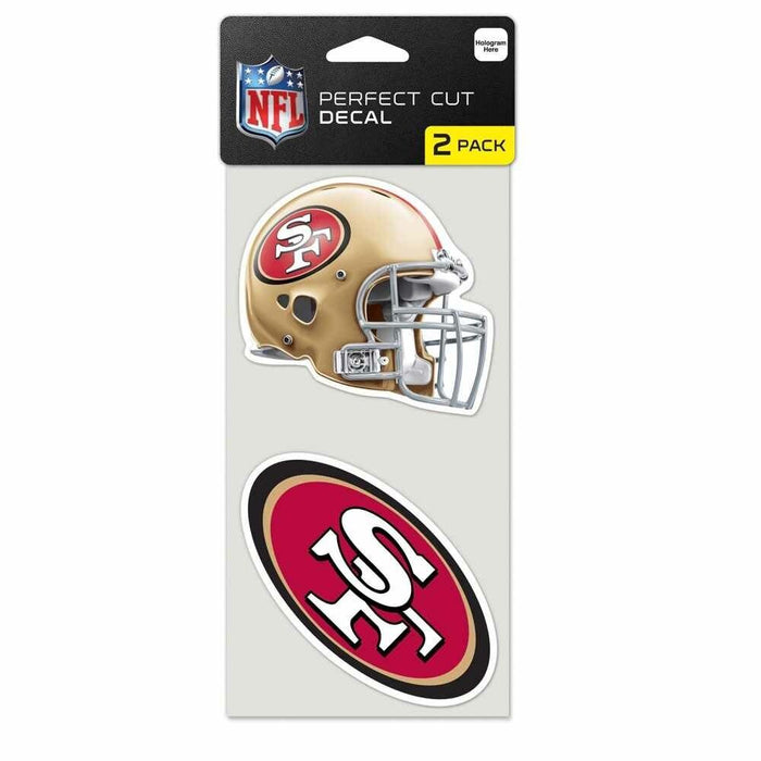 "San Francisco 49ers 4""X4"" DIE CUT DECAL 2-PACK CAR HOME Free Shipping"