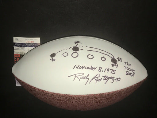 Rudy Ruettiger Notre Dame Autographed Signed Logo Football JSA COA THE SACK PLAY