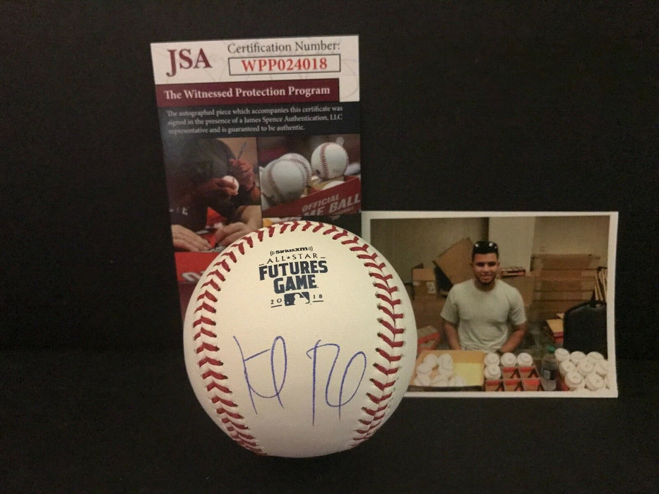 Keibert Ruiz Dodgers Signed 2018 Futures Game Baseball JSA Witness COA A