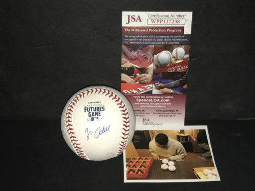 Jo Adell Los Angeles Angels Signed 2018 Futures Game Baseball JSA Witness COA A