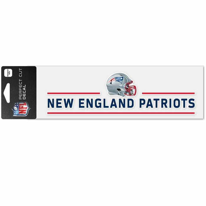 "New England Patriots Official 3""x10"" Die Cut Decal"