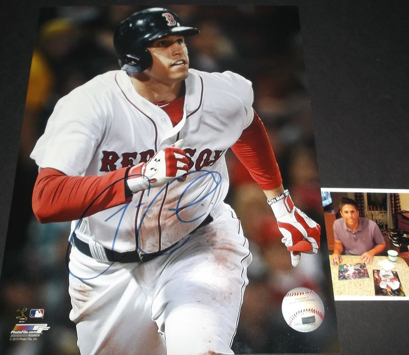 Garin Cecchini Boston Red Sox Autographed Signed 8x10 Picture 1st MLB Home Run 8