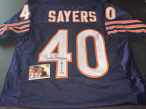 Gale Sayers Chicago Bears Autographed Signed Jersey Blue HOF 77