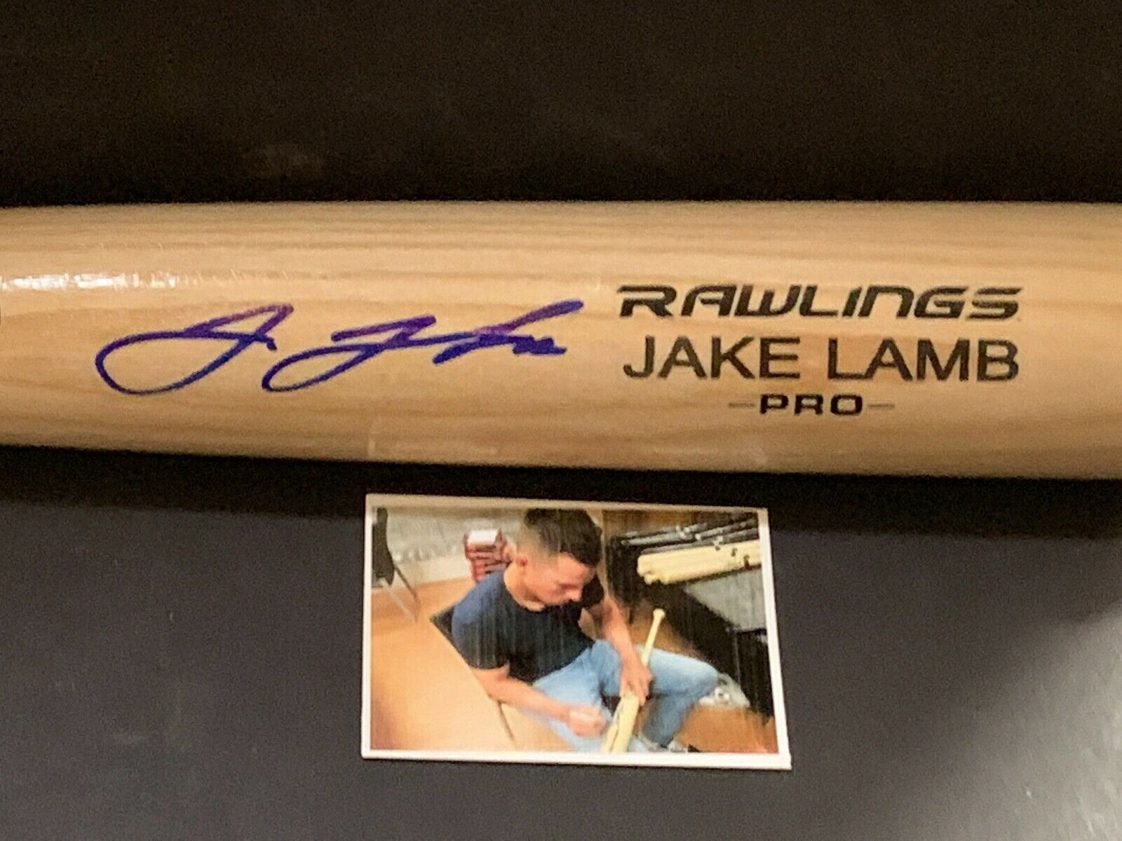 Jake Lamb Arizona Diamondbacks Autographed Signed Engraved Bat Blonde A