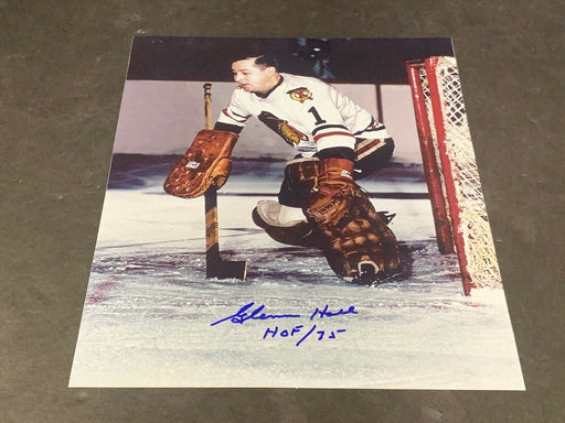 Glenn Hall Chicago Blackhawks Autographed Signed 8x10 HOF 75 a