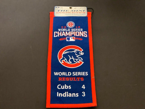 2016 CHICAGO CUBS WORLD SERIES CHAMPIONS RESULTS BANNER WINNING STREAK RARE