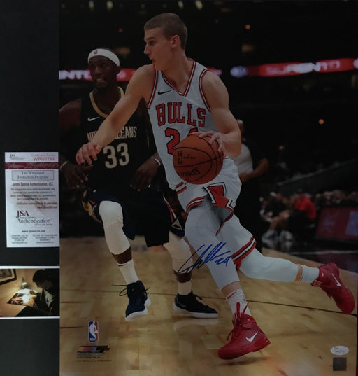 Lauri Markkanen Chicago Bulls Autographed Signed 16x20 Photo JSA WITNESS COA C