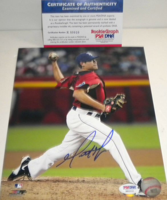 Matt Moore Tampa Bay Rays PSA DNA ROOKIE COA Signed Autographed 8x10