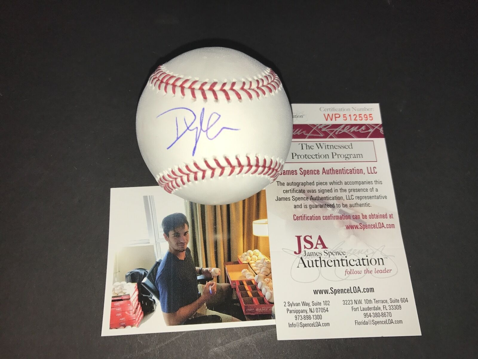 Dylan Cease Chicago White Sox Autographed Signed Baseball JSA WITNESS COA A