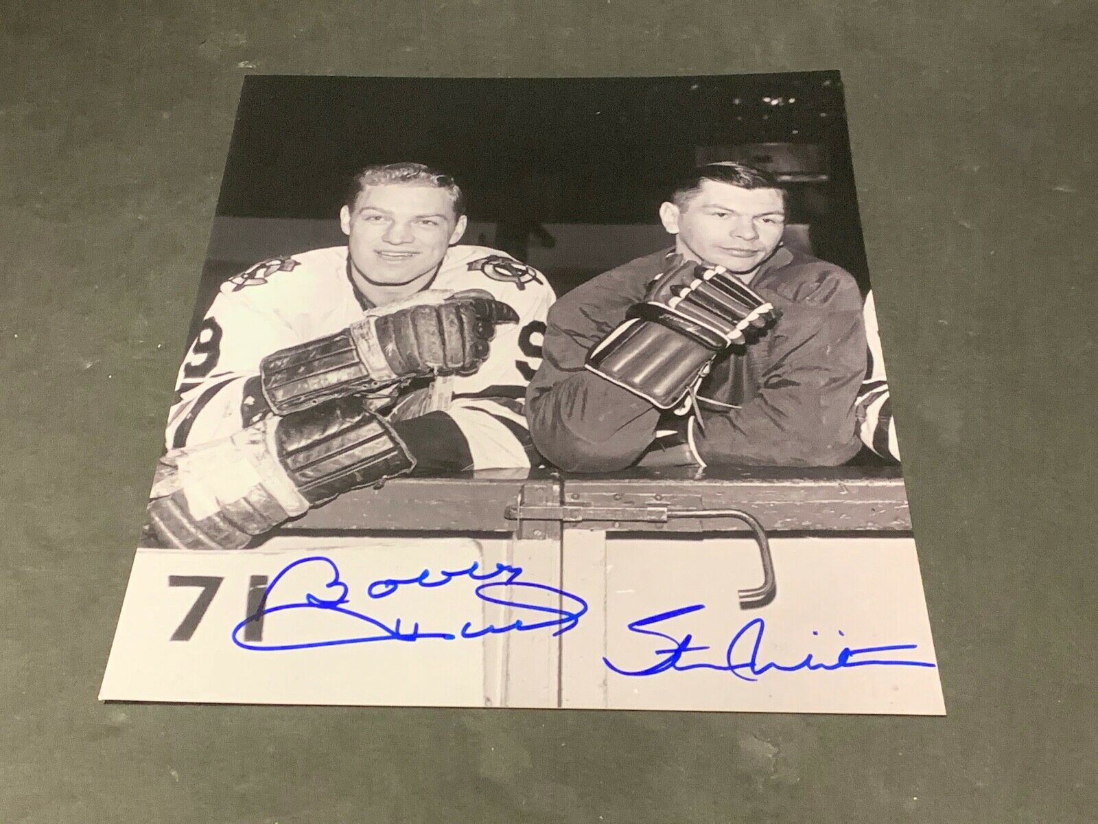 Stan Mikita Bobby Hull Chicago Blackhawks Autographed Signed 8x10